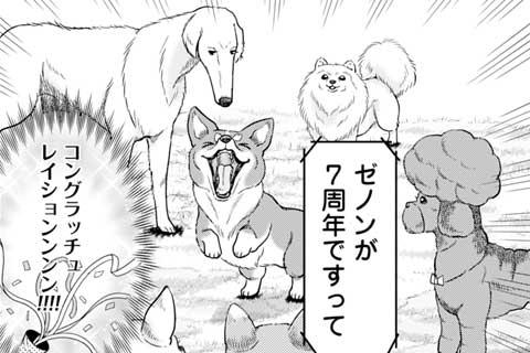 66.継続は力なり!ゼノン7周年を祝う!超絶擦り寄りスタイルの犬漫画も実は…??